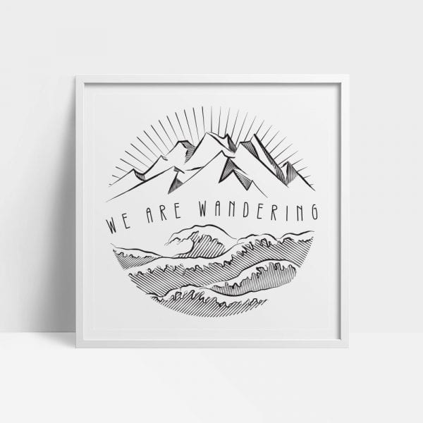 We Are Wandering Wall Art