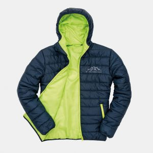 Navy and Lime Puffer Jacket